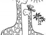 Giraffe Sun Coloring Page