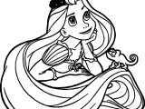 Girl Tangled Rapunzel Coloring Page