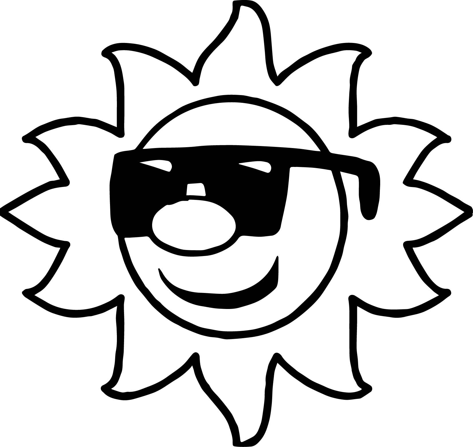 Glasses Summer Coloring Page