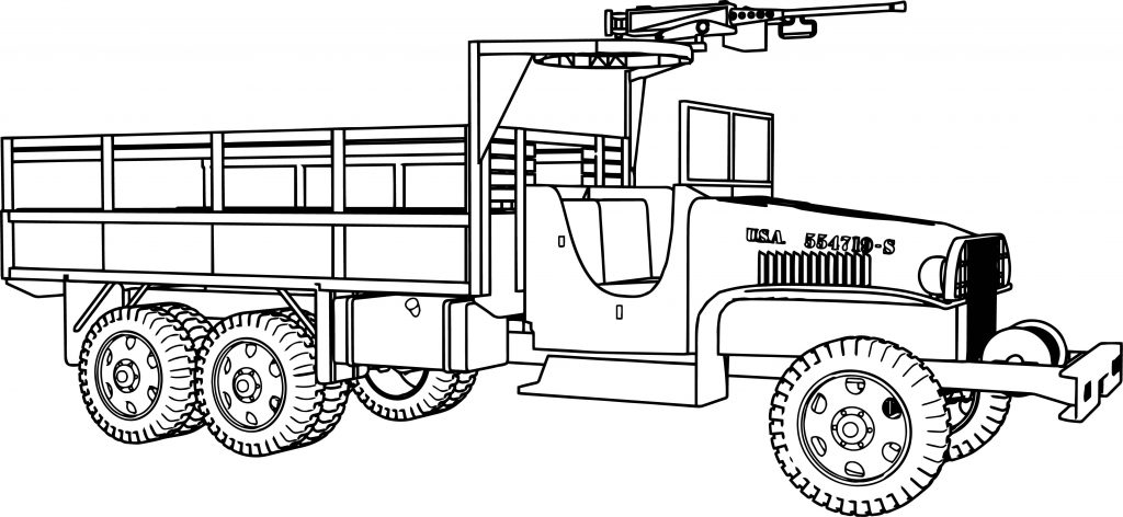 gmc 6 6 military truck coloring page