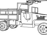 Gmc 6×6 Military Truck Coloring Page