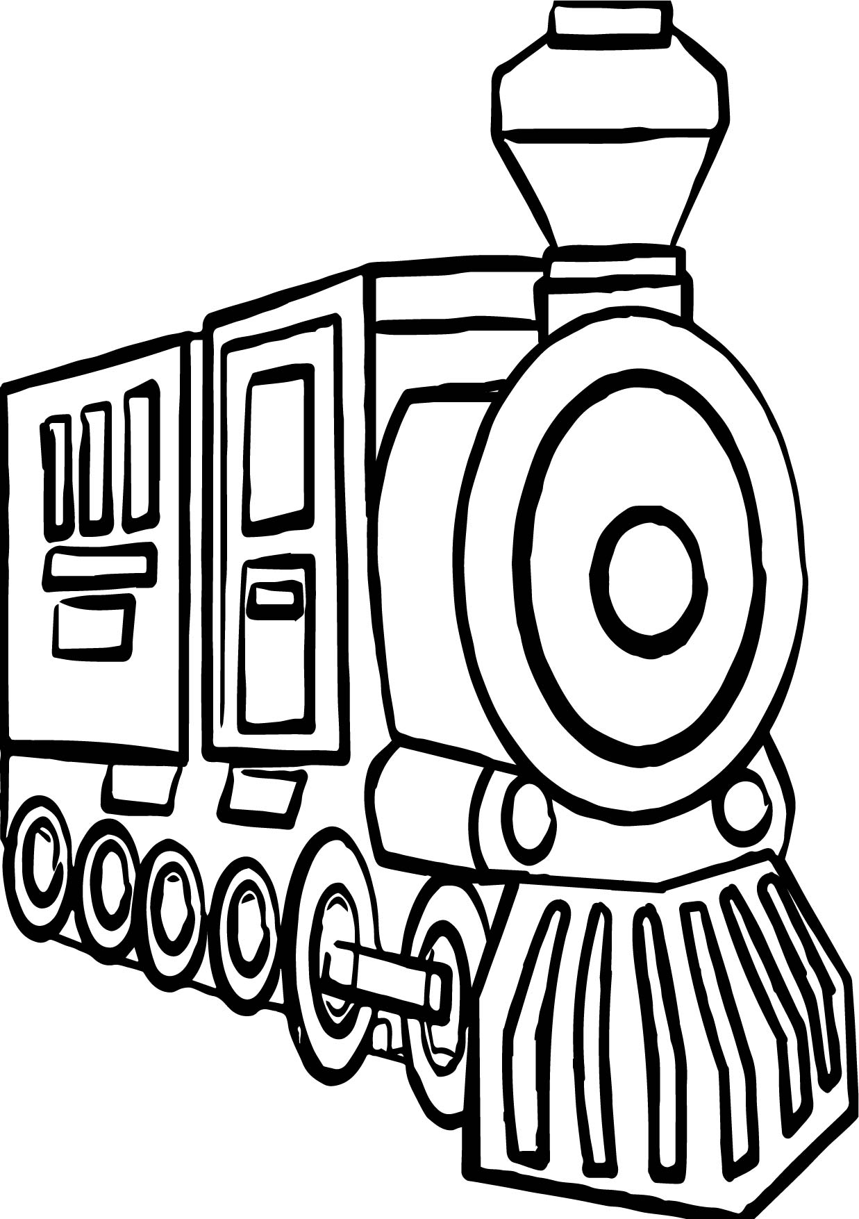 Go Train Coloring Pages