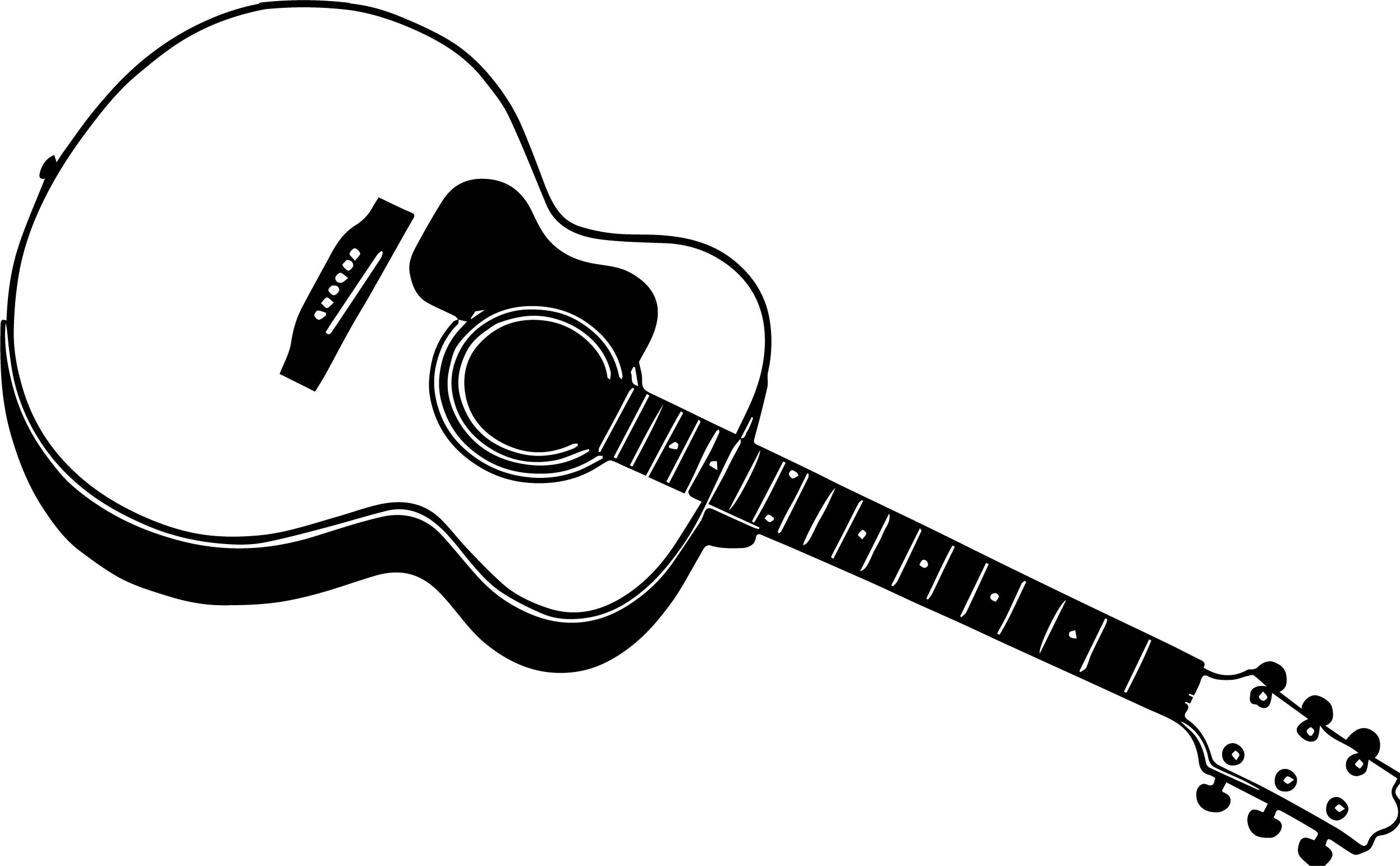 Good Guitar Coloring Page