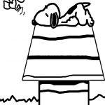 Good Morning Snoopy Coloring Page