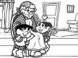Grandmother Monica Girl Coloring Page