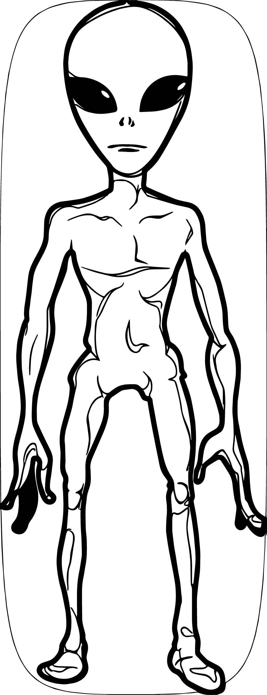 Grey Alien 1000 Coloring Page