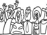 Group Happy People Coloring Page