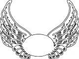 Guardian Angel Wings Hi Coloring Page