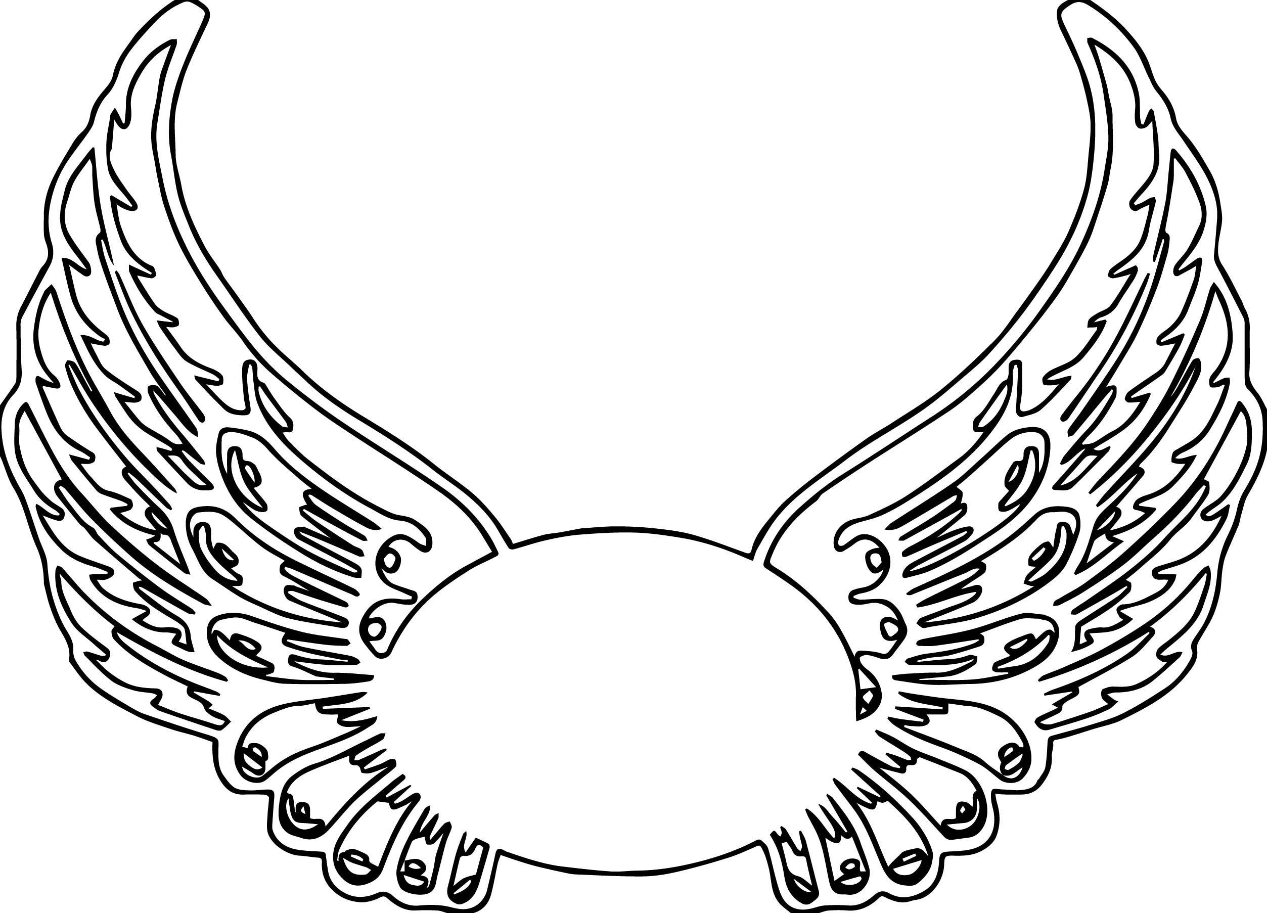 Guardian Angel Wings Hi Coloring Page | Wecoloringpage