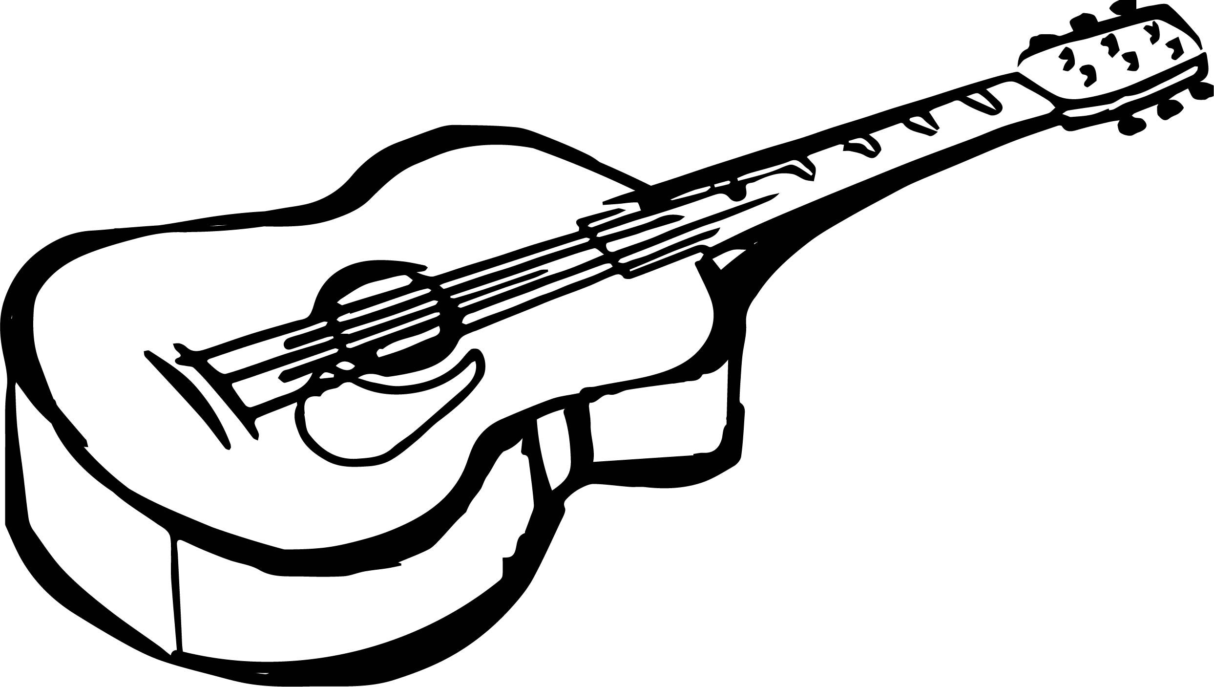 Guitar Side Coloring Page