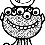 Halloween Alien Coloring Page