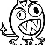 Halloween Monster Monster Coloring Page