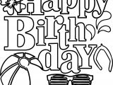 Happy Birthday Summer Coloring Page