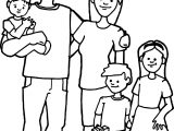 Happy Family Free Images Family Coloring Page