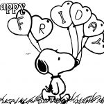 Happy Friday Snoopy Coloring Page
