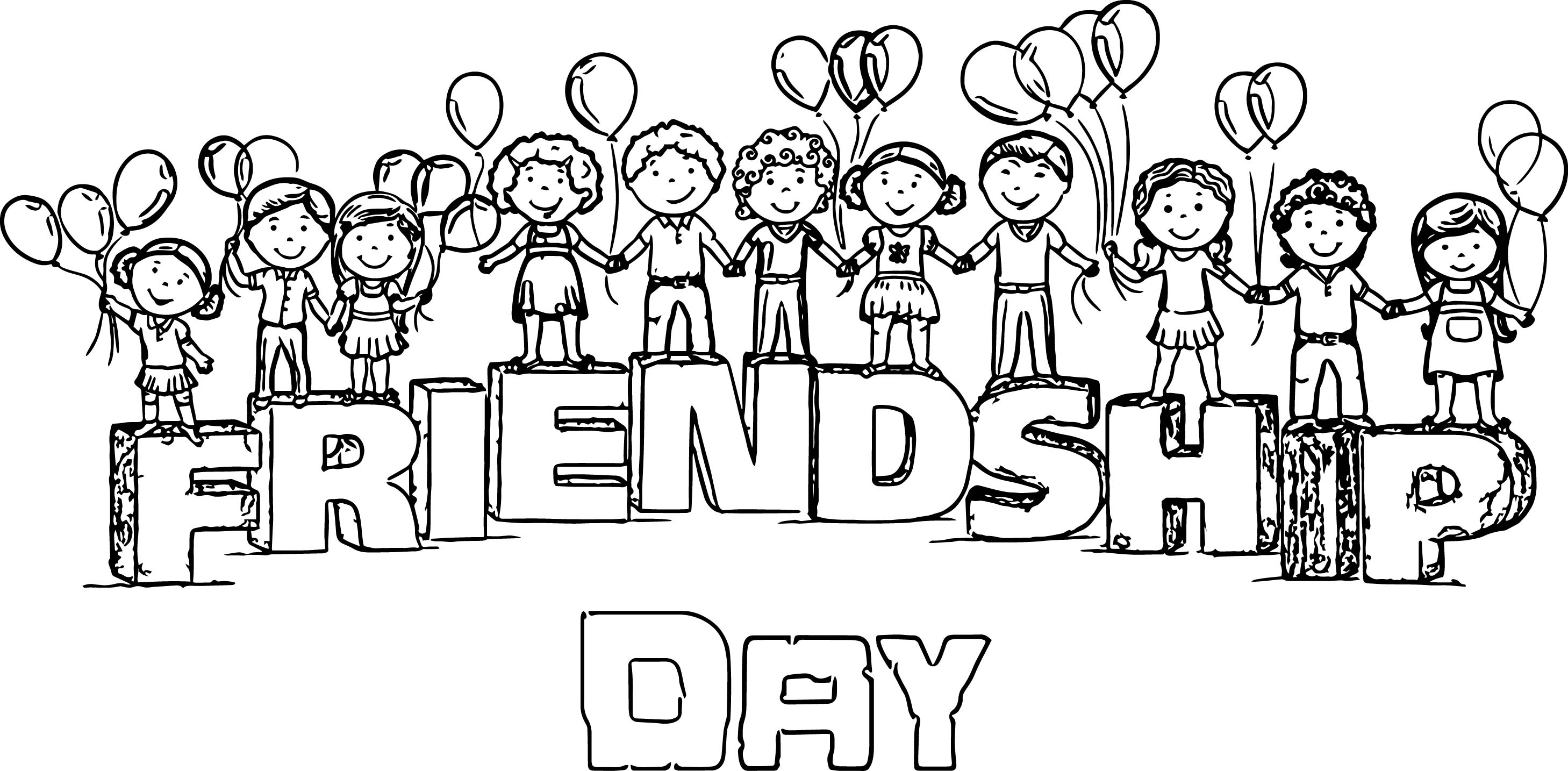 preschool coloring pages friends - photo#32