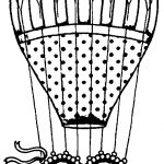 Heart Carrying Air Balloon Coloring Page