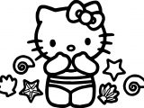 Hello Kitty Summer Coloring Page