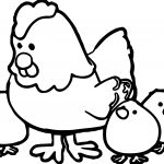 Hen With Chicks Family Coloring Page