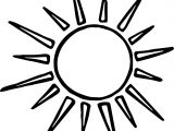 High Summer Sun Coloring Page