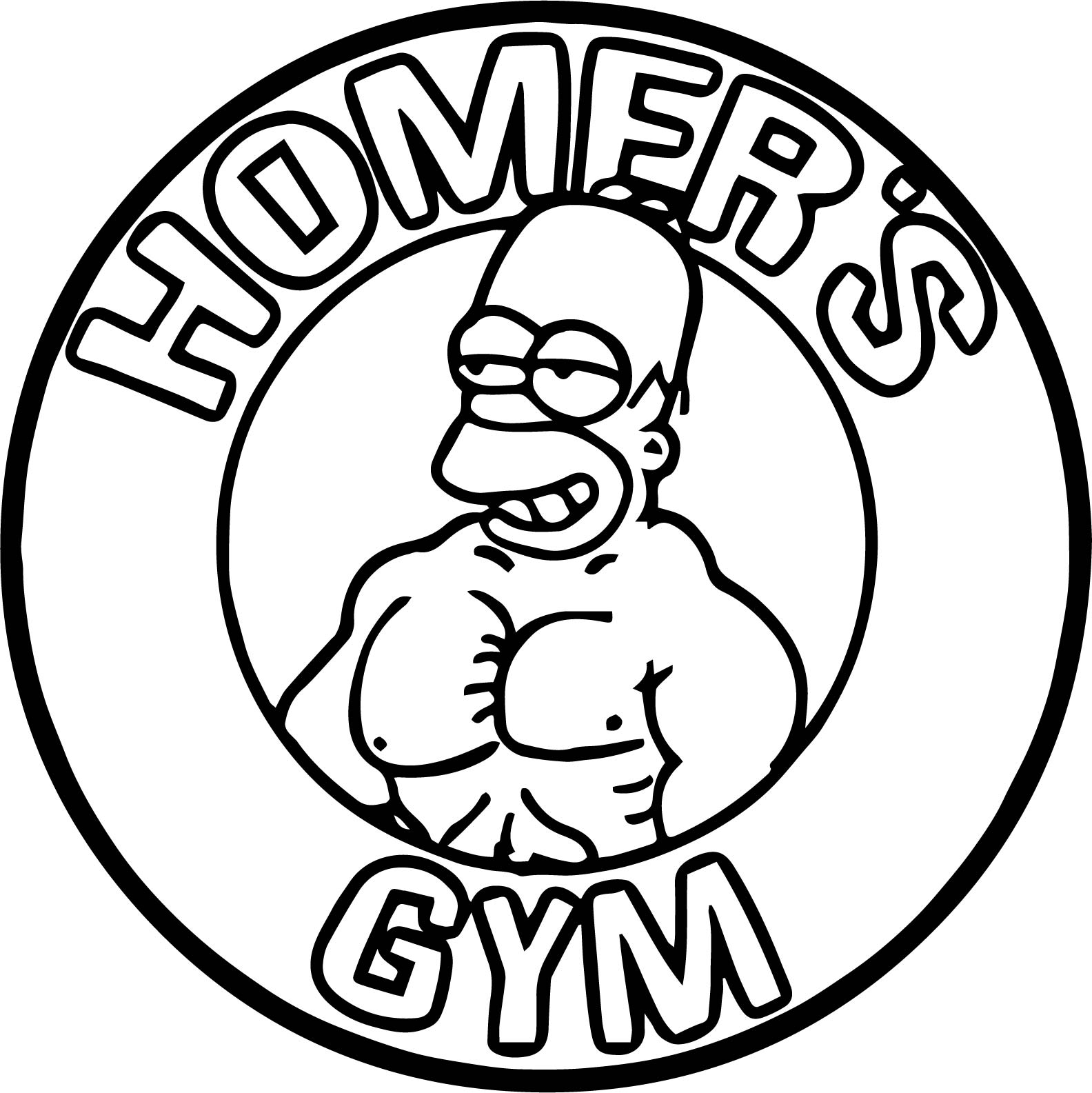Homers Gym Coloring Page