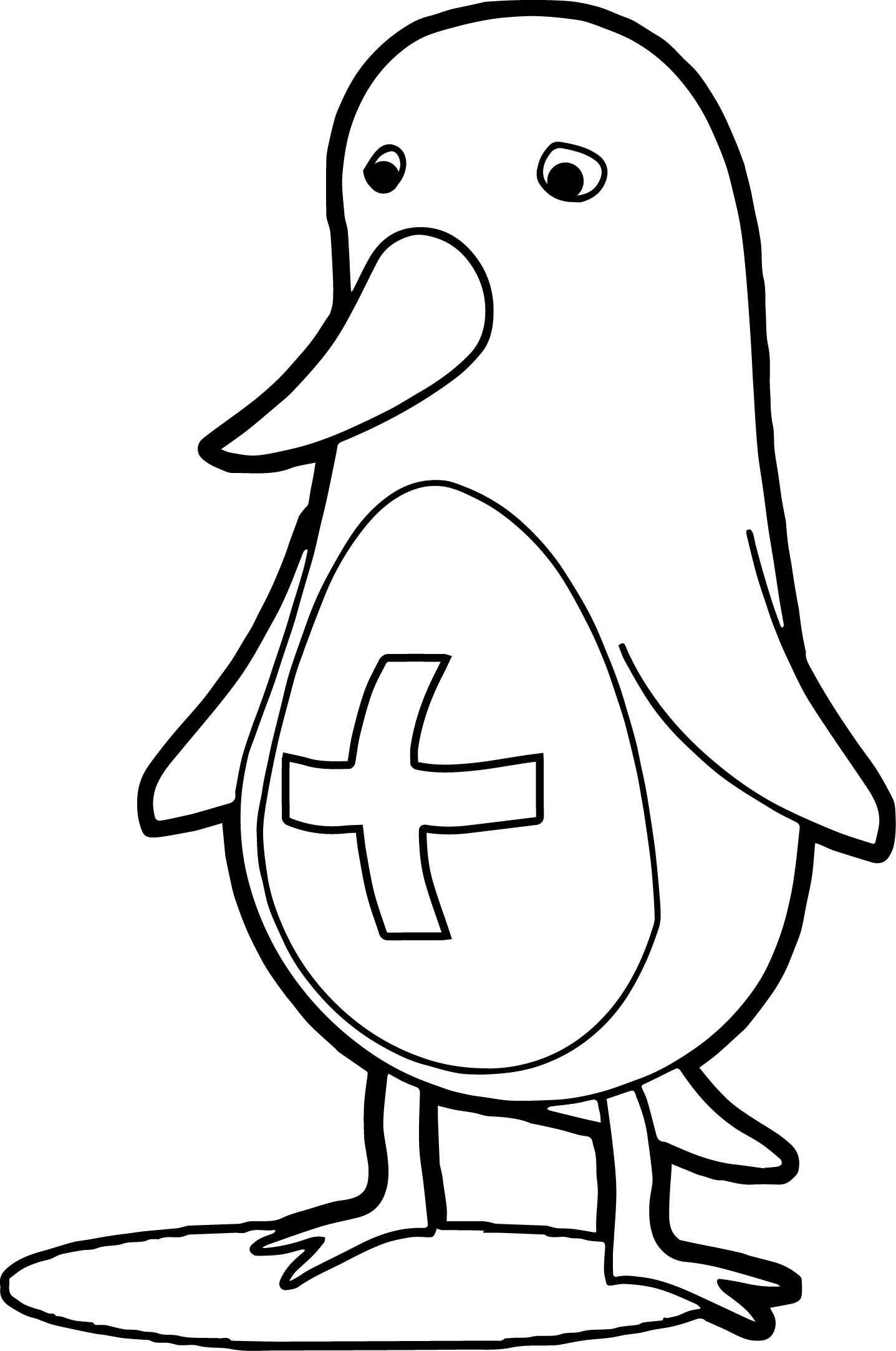 Ill Penguin Coloring Page