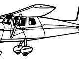 Illustration Of A Cessna Airplane Coloring Page