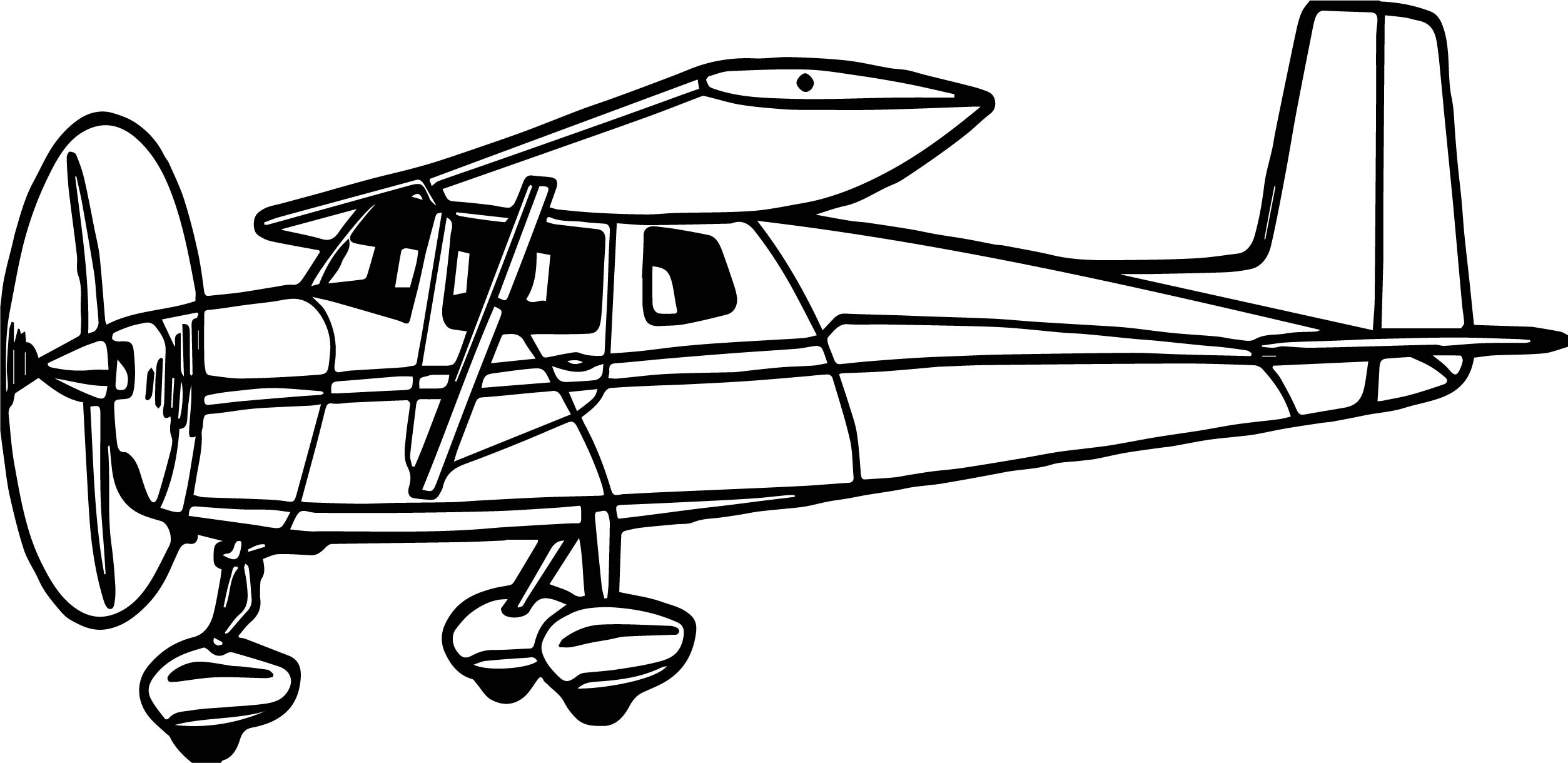 Illustration of a cessna airplane coloring page for Airplane coloring page printable