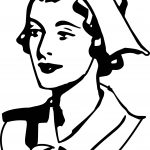 Illustration Of A Nurse Coloring Page