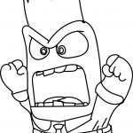 Inside Out Character Anger Face Coloring Page