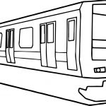 Japan Train Coloring Page