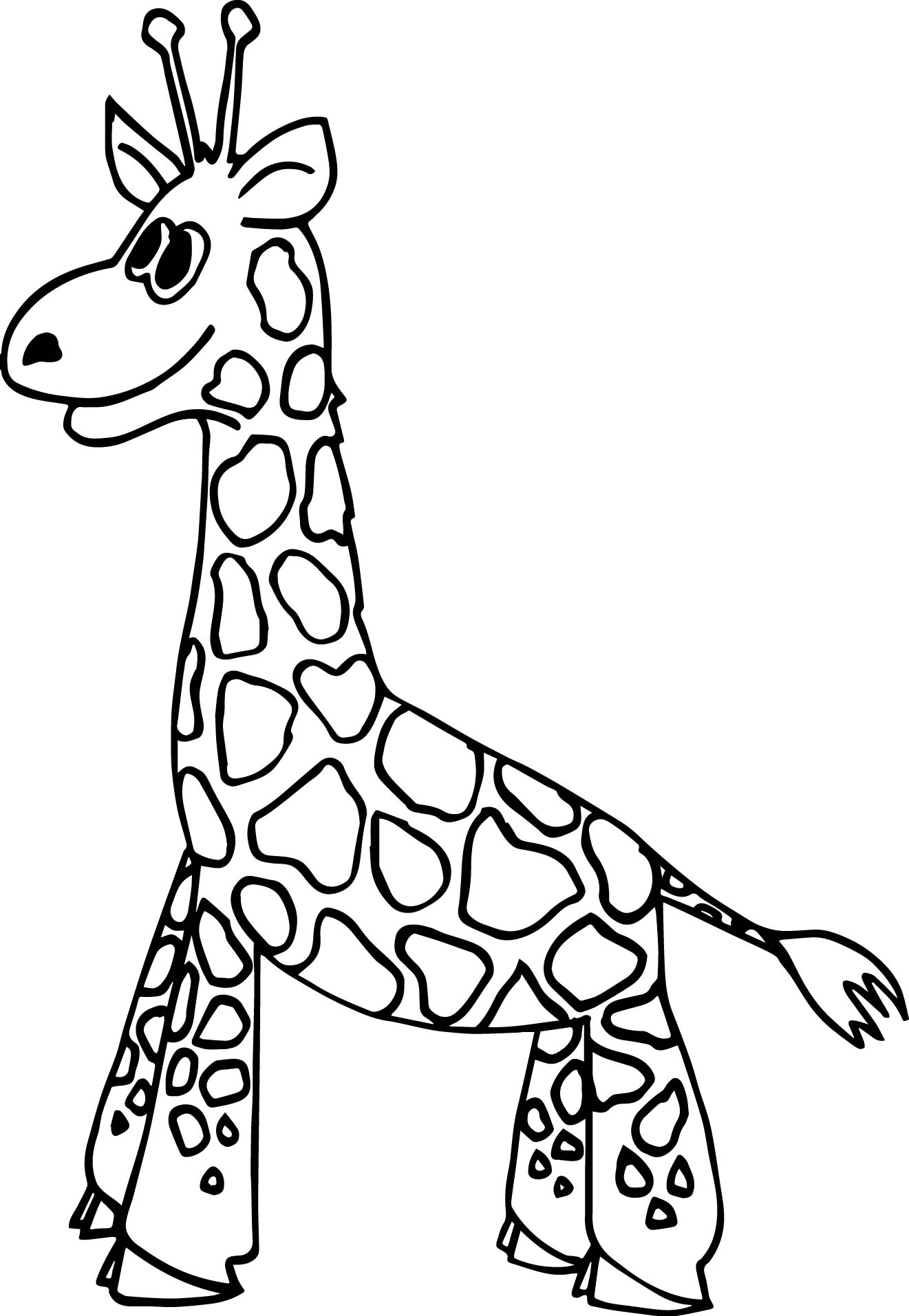Just Giraffe Coloring Page
