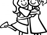Just Girls Best Friends Coloring Page