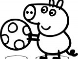 Just Peppa Pig Easter Egg Coloring Page