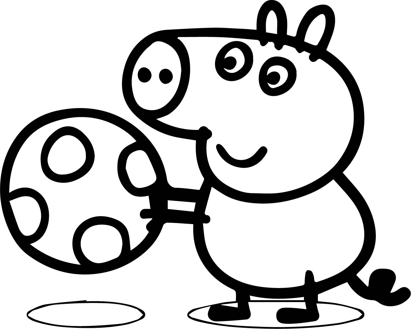 Just Peppa Pig Easter Egg Coloring Page | Wecoloringpage.com