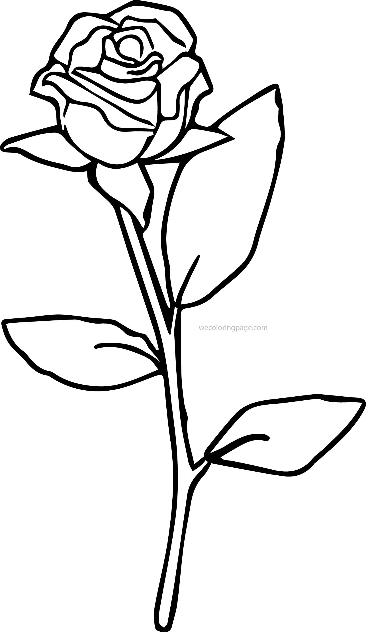 Just Rose Coloring Page
