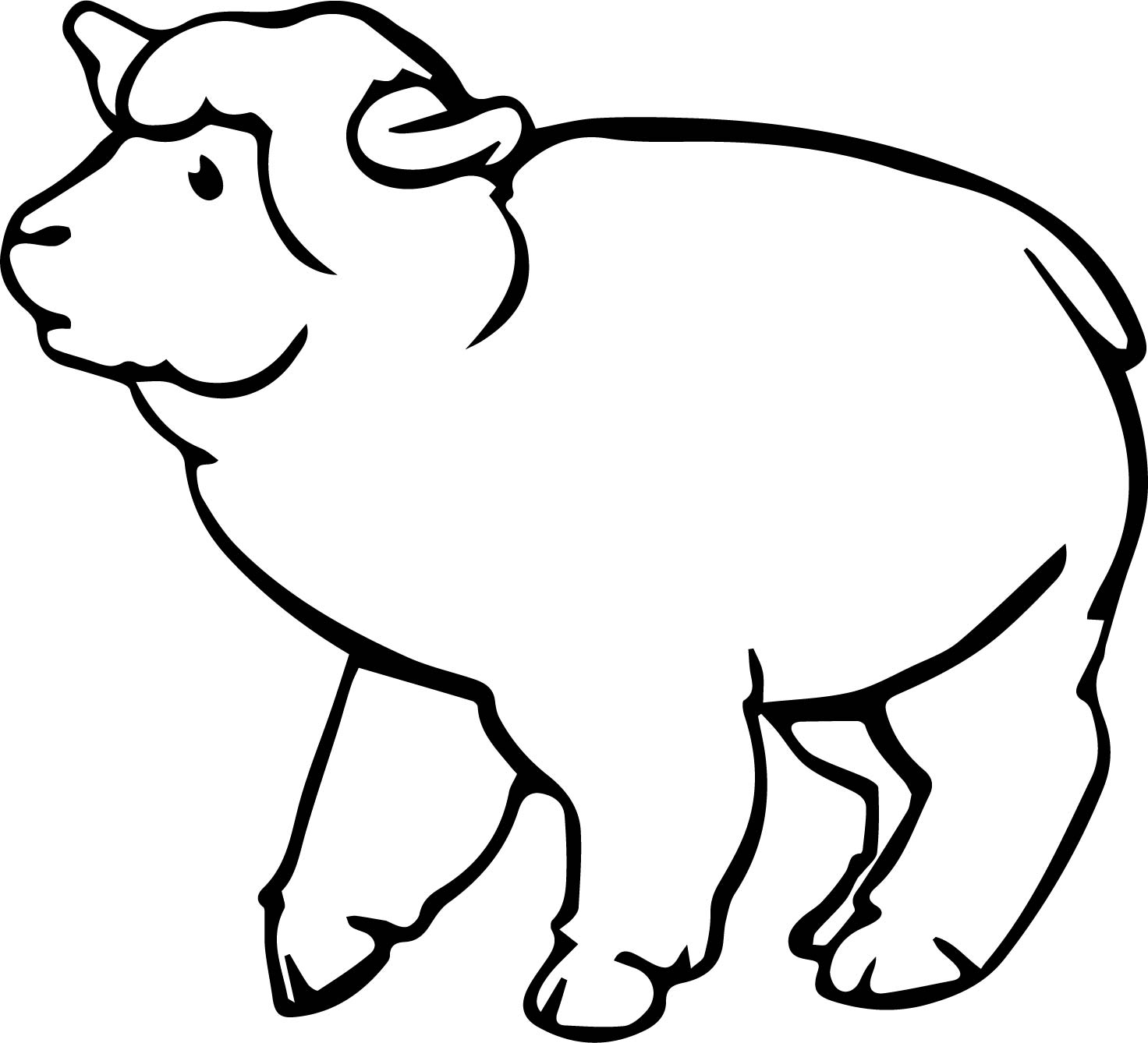 Just Sheep Coloring Page