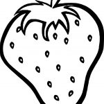Just Strawberry Coloring Page
