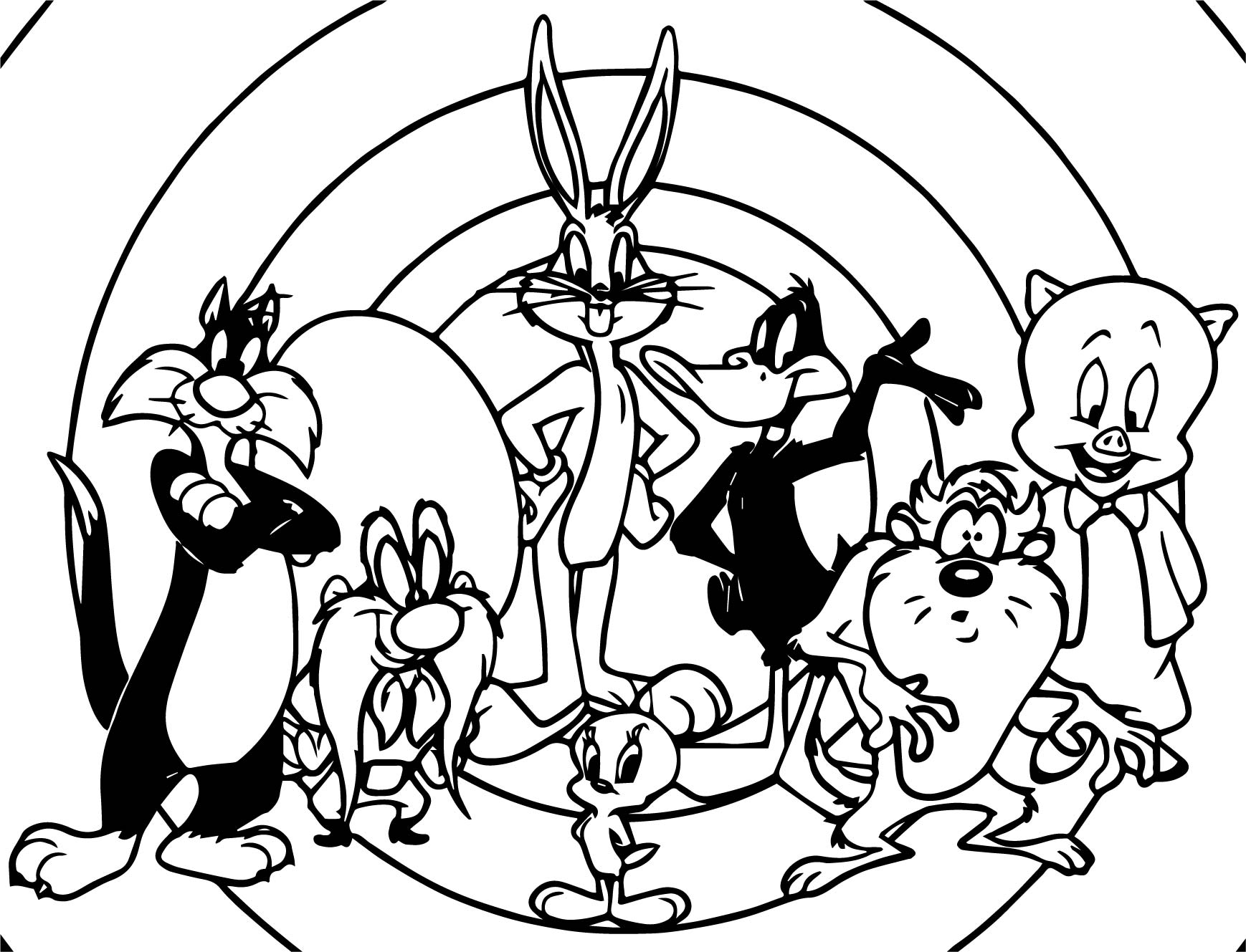 Just The Looney Tunes Coloring Page