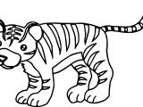 Just Tiger Coloring Page