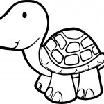 Just Tortoise Turtle Coloring Page