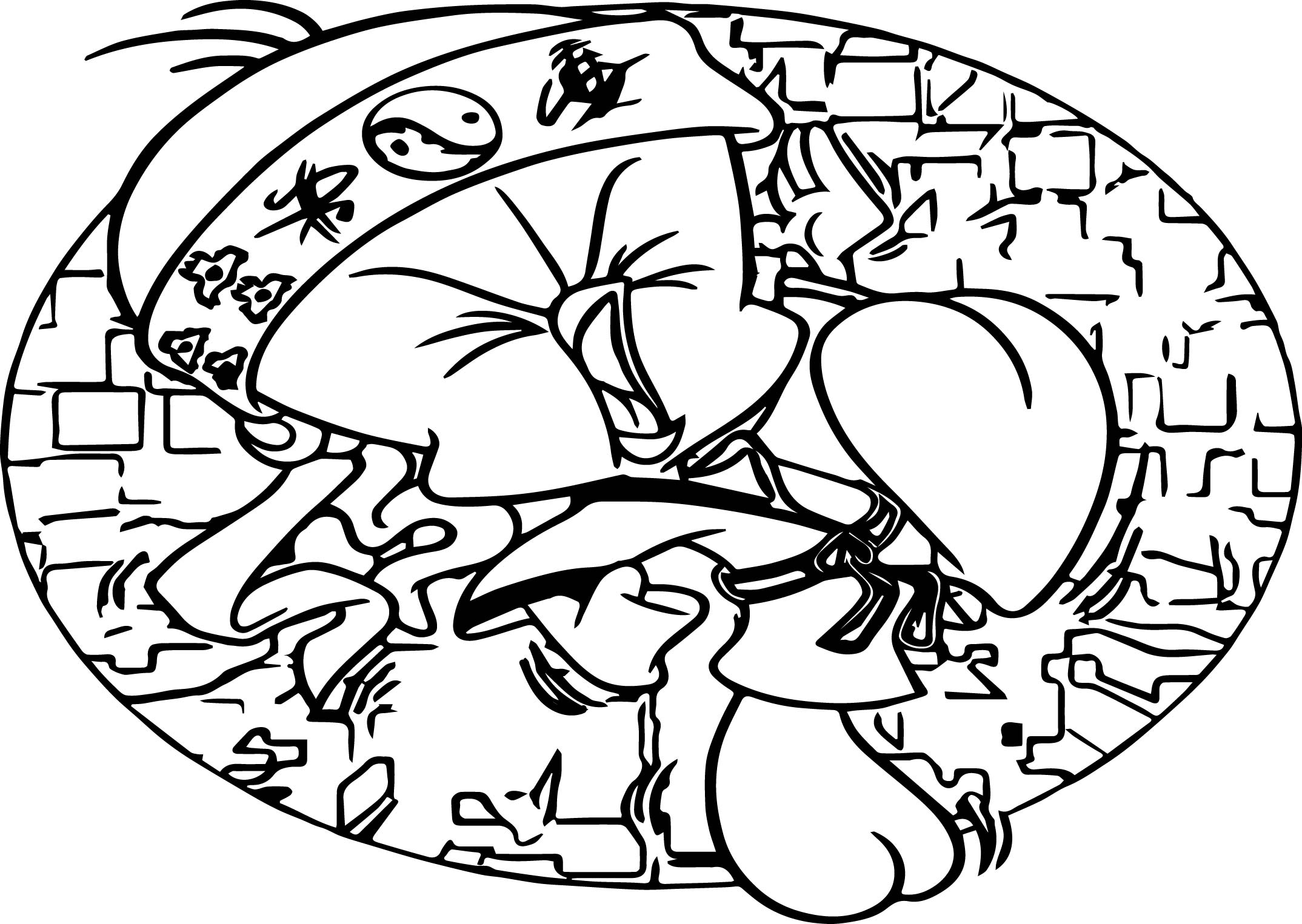 Karate Tweety Coloring Page