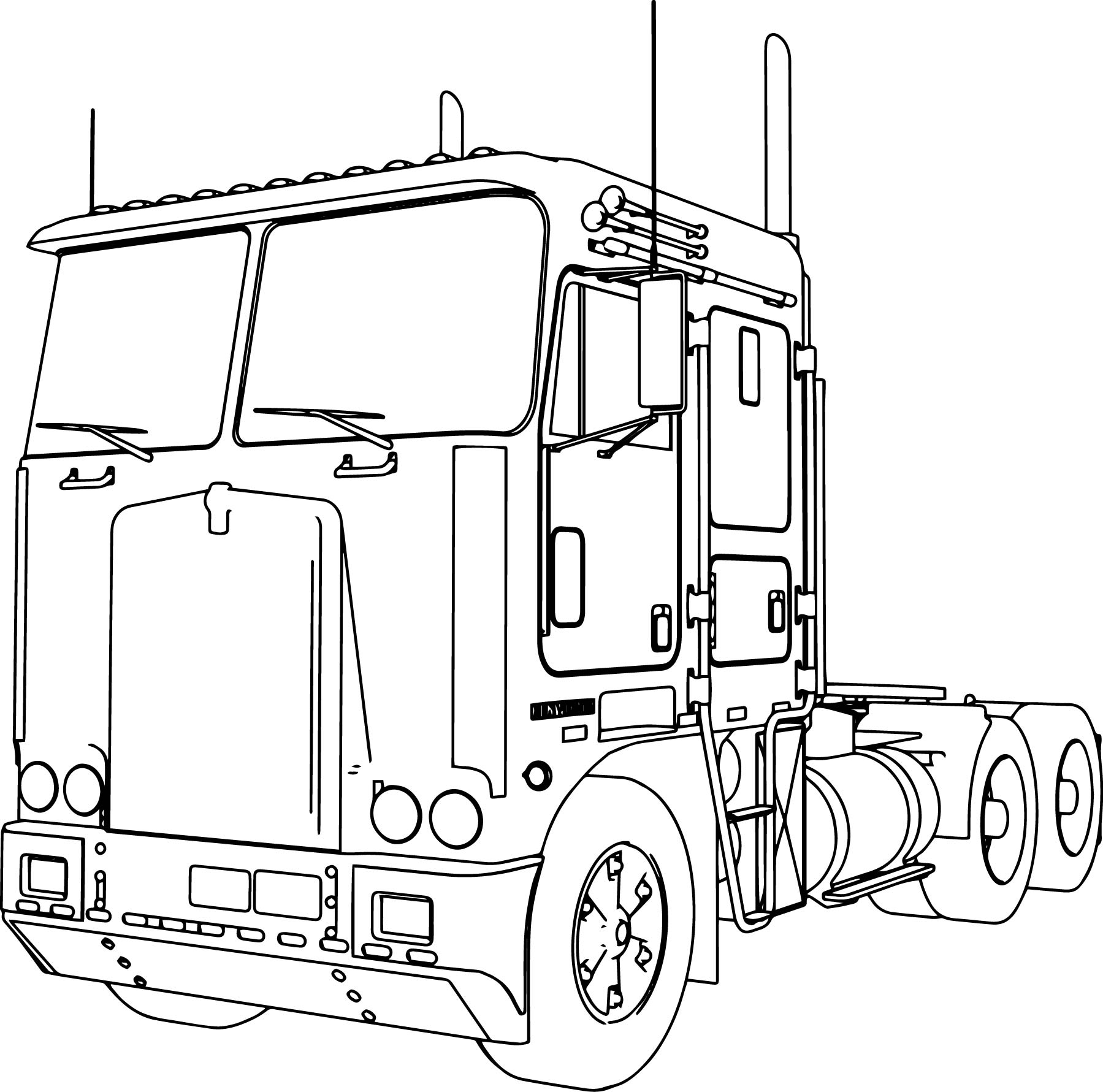 Uncategorized Coloring Pages Of Trucks And Trailers kenworth k100 long trailer truck coloring page wecoloringpage page