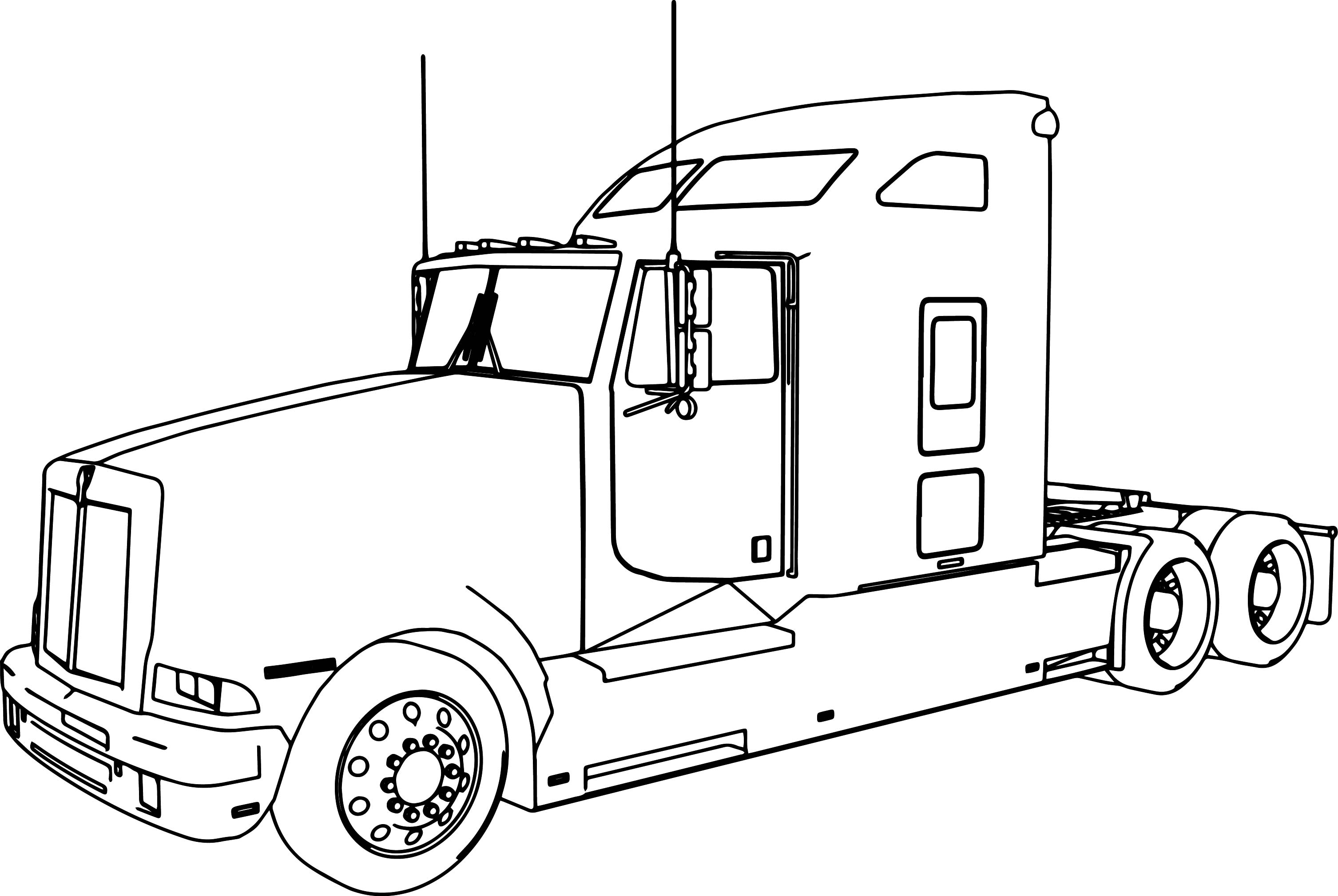 Uncategorized Coloring Pages Of Trucks And Trailers kenworth t600 long trailer truck coloring page wecoloringpage page