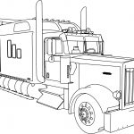 Kenworth W900 Custom M Long Trailer Truck Coloring Page
