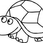 Kids Front Tortoise Turtle Coloring Page
