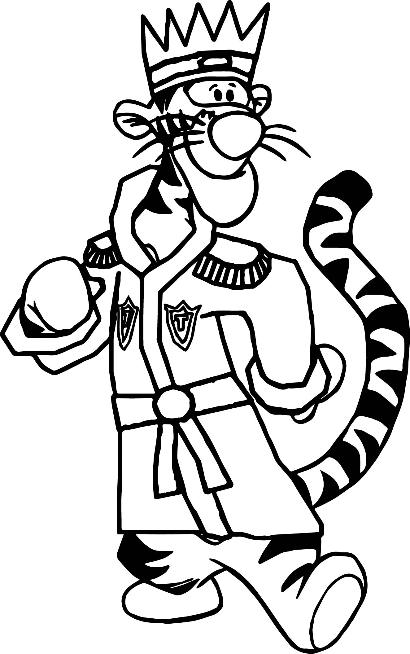 tigger and pooh coloring pages - king tigger coloring page
