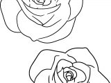 Large Pink Rose Coloring Page