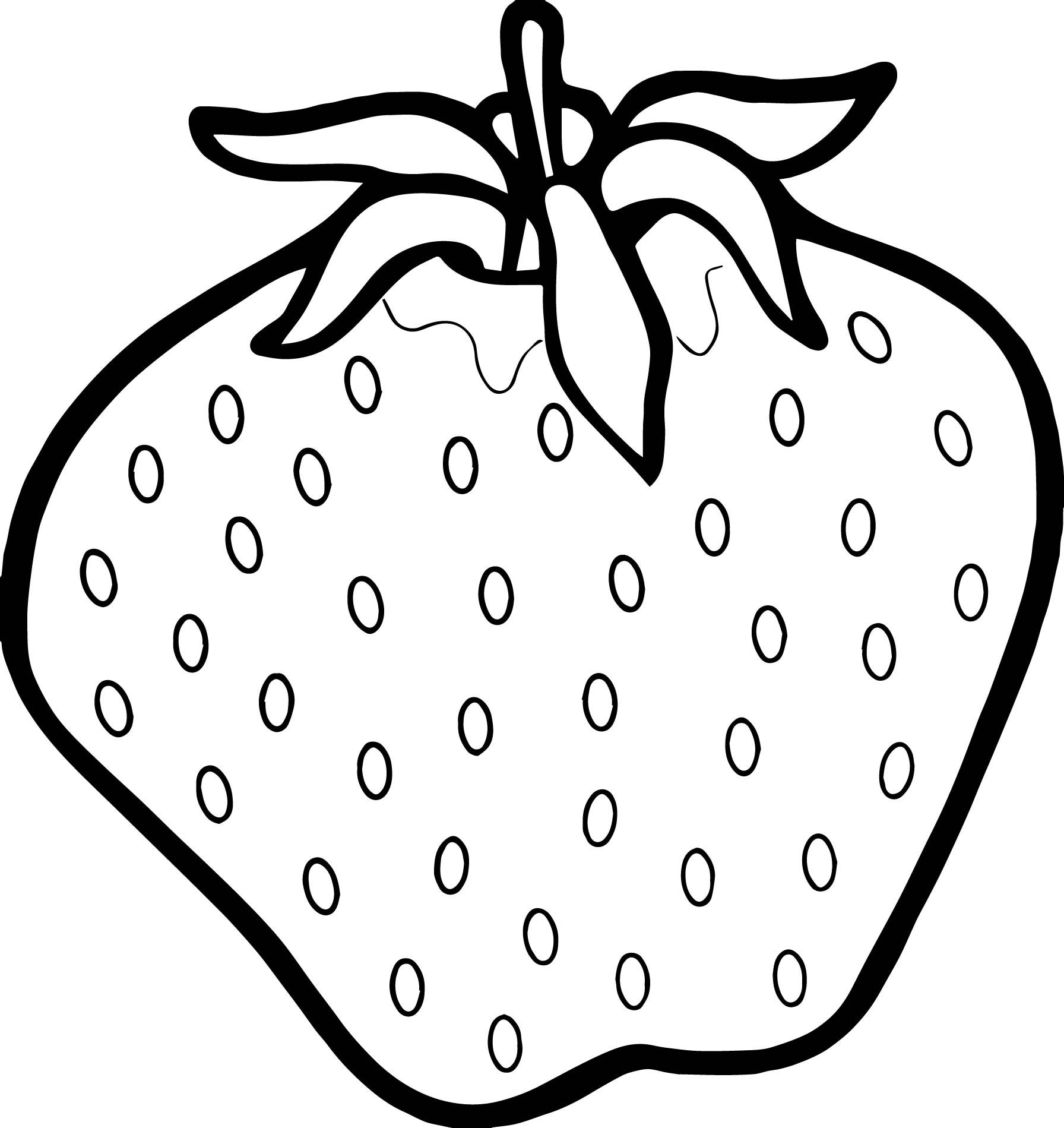 Large Strawberry Coloring Page