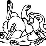 Laugh Disney Bambi Thumper Bunny Cartoon Coloring Page